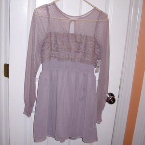 Free People Dusty Lavender Lace Dress 8 NWT